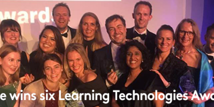 Maar liefst 6 (!) Learning Technologies Awards